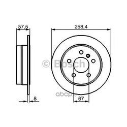 Тормозной диск (Bosch) 0986479235