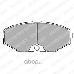 Комплект тормозных колодок, дисковый тормоз (Delphi) LP1058