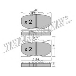 Комплект тормозных колодок, дисковый тормоз (Trusting) 8150
