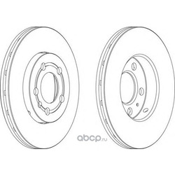 Тормозной диск (Ferodo) DDF927