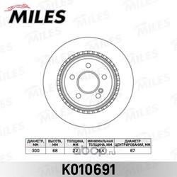 Диск тормозной MB W211/W212/W204/W219 задний (Miles) K010691