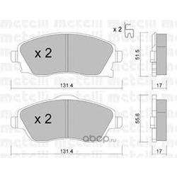 Комплект тормозных колодок, дисковый тормоз (Metelli) 2203400