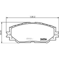 Комплект тормозных колодок, дисковый тормоз (Hella) 8DB355006861