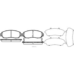Комплект тормозных колодок, дисковый тормоз (Road house) 2117112