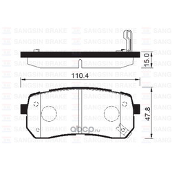 Колодки Hyundai Grand Starex R (Sangsin brake) SP1192