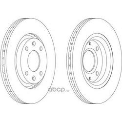 Тормозной диск (Ferodo) DDF1140