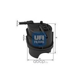 Топливный фильтр (UFI) 2434300