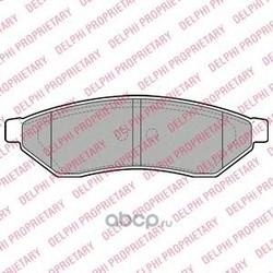 Комплект тормозных колодок, дисковый тормоз (Delphi) LP1946