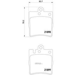 Комплект тормозных колодок, дисковый тормоз (Mintex) MDB1991