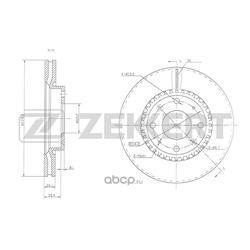 Диск.торм.перед. Kia Cerato I 04- (Zekkert) BS5476