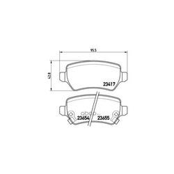 Колодки тормозные дисковые задние, комплект (Brembo) P59038