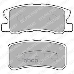Комплект тормозных колодок, дисковый тормоз (Delphi) LP1691