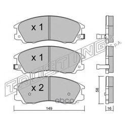 Комплект тормозных колодок, дисковый тормоз (Trusting) 5220