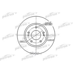 Диск тормозной передн. MITSUBISHI: Airtrek/Lancer/Spase Runner/Outlander 2.0/2.4 03- (PATRON) PBD4494