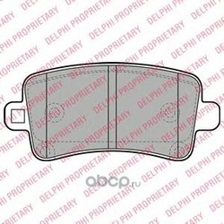 Комплект тормозных колодок, дисковый тормоз (Delphi) LP2084