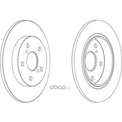 Тормозной диск (Ferodo) DDF1645