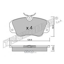Комплект тормозных колодок, дисковый тормоз (Trusting) 5540