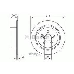 Тормозной диск (Bosch) 0986479613