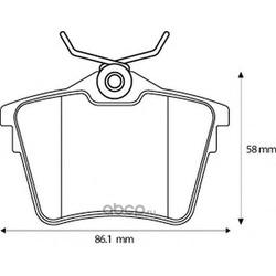 Комплект тормозных колодок, дисковый тормоз (Jurid) 573133J