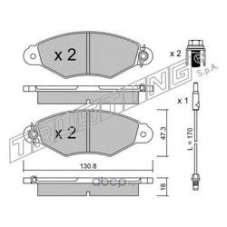 Комплект тормозных колодок, дисковый тормоз (Trusting) 2621