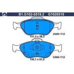 Комплект тормозных колодок (GALFER) B1G10205192