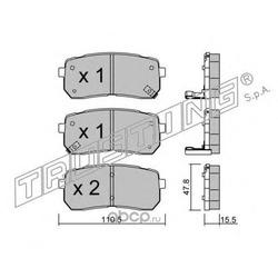 Комплект тормозных колодок, дисковый тормоз (Trusting) 8020