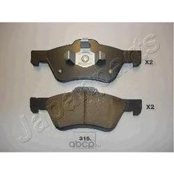 Комплект тормозных колодок, дисковый тормоз (Japanparts) PA315AF
