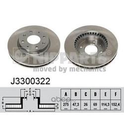 Тормозной диск (Nipparts) J3300322