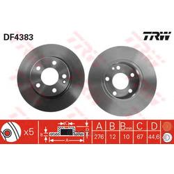 Тормозной диск (TRW/Lucas) DF4383