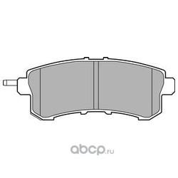 Комплект тормозных колодок, дисковый тормоз (Delphi) LP2447