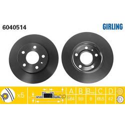 Тормозной диск (Girling) 6040514