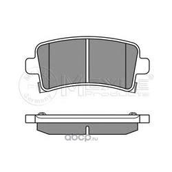 Комплект тормозных колодок, дисковый тормоз (Meyle) 0252442116W