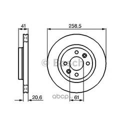 Тормозной диск (Bosch) 0986478124