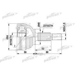 ШРУС наружн к-кт RENAULT: MEGANE II Coup?-Cabriolet 03 -, MEGANE II универсал 03 - (PATRON) PCV1501
