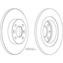 Тормозной диск (Ferodo) DDF1502