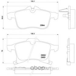 Комплект тормозных колодок, дисковый тормоз (Mintex) MDB2633