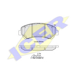 Колодки тормозные дисковые, комплект (Icer) 181834