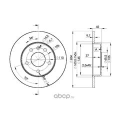 Тормозной диск (Icer) 78BD9110