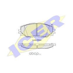 Колодки тормозные дисковые, комплект (Icer) 181760
