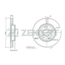Диск торм. перед. Hyundai Getz (TB) 02- i20 10- i30 07- Sonata V 05- Tucson (JM) 04- Kia Care (Zekkert) BS5119
