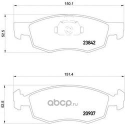 Задние тормозные колодки (Hyundai-KIA) 583023ZA70