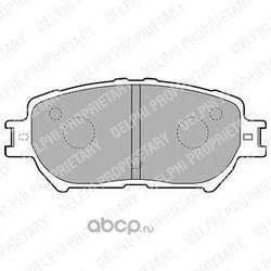 Комплект тормозных колодок, дисковый тормоз (Delphi) LP1738