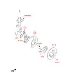 Подшипник передней ступицы (Hyundai-KIA) 5172038110