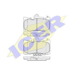 Колодки тормозные дисковые, комплект (Icer) 182059