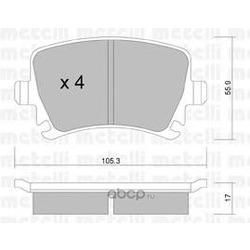 Колодки тормозные дисковые, комплект (Metelli) 2205530