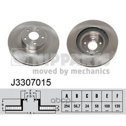 Тормозной диск (Nipparts) J3307015
