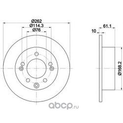 Диск тормозной TEXTAR (Textar) 92161703