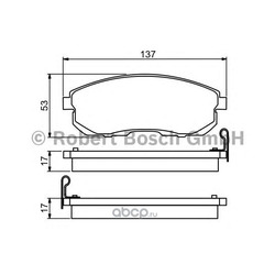 Комплект тормозных колодок, дисковый тормоз (Bosch) 0986494277