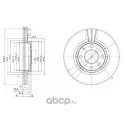 Диск тормозной AD (Delphi) BG2625