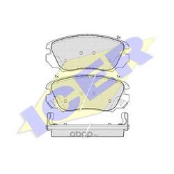 Комплект тормозных колодок, дисковый тормоз (Icer) 181914